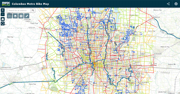 Columbus Metro Bike Map